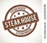 STEAK HOUSE rubber stamp isolated on white background. Vector illustration.