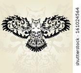 hand drawn decorative owl ... | Shutterstock .eps vector #161024564