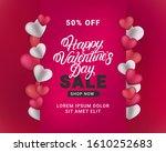 valentines day hand written... | Shutterstock .eps vector #1610252683