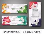 vertical and horizontal banner... | Shutterstock .eps vector #1610287396