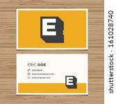business card with alphabet... | Shutterstock .eps vector #161028740