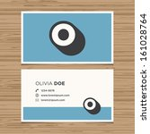 business card with alphabet... | Shutterstock .eps vector #161028764