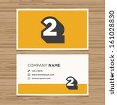 business card with number 2.... | Shutterstock .eps vector #161028830