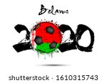 abstract numbers 2020 and... | Shutterstock .eps vector #1610315743