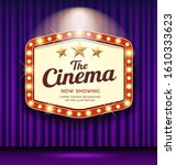 cinema theater hexagon sign... | Shutterstock .eps vector #1610333623