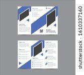 trifold brochure template... | Shutterstock .eps vector #1610337160