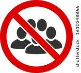 no crowd vector icon. flat no... | Shutterstock .eps vector #1610348866