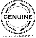 grunge black genuine word round ... | Shutterstock .eps vector #1610355310