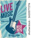 retro banner for festival music ... | Shutterstock .eps vector #1610377276