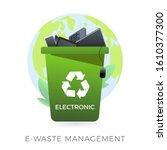 e waste management concept  ... | Shutterstock .eps vector #1610377300