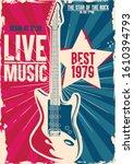 live music best rock festival | Shutterstock .eps vector #1610394793