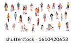 crowd of people performing... | Shutterstock .eps vector #1610420653