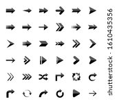 arrows. vector illustration web ... | Shutterstock .eps vector #1610435356