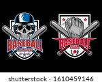 stock vector baseball emblem... | Shutterstock .eps vector #1610459146