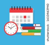 timer or clock  a stack of...   Shutterstock .eps vector #1610463940