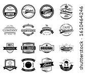 badge retro logo vintage stamp... | Shutterstock .eps vector #1610464246