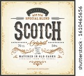 vintage scotch whisky label for ... | Shutterstock .eps vector #1610465656
