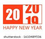 happy new year 2020 design... | Shutterstock .eps vector #1610489536