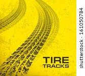 detail black tire tracks on... | Shutterstock .eps vector #161050784
