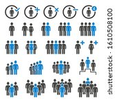 group of people icons set... | Shutterstock .eps vector #1610508100