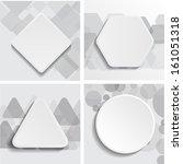 abstract geometrical design   | Shutterstock .eps vector #161051318
