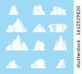 drifting iceberg or set of... | Shutterstock .eps vector #1610529820
