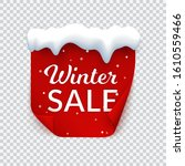 winter sale banner with snow... | Shutterstock .eps vector #1610559466