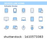 set of smart devices and... | Shutterstock .eps vector #1610573383