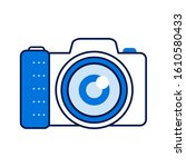 photo camera color line icon....