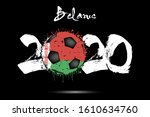 abstract numbers 2020 and... | Shutterstock .eps vector #1610634760