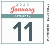 january 11th  2020. calendar...   Shutterstock .eps vector #1610645629