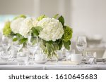 White Wedding  Floral   Table...