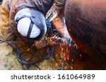 Welder Working On A Pipeline I...
