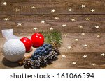 candles  ornaments  grapes and... | Shutterstock . vector #161066594