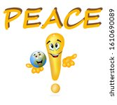 peace in the world and in our... | Shutterstock . vector #1610690089