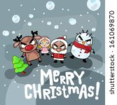 vector angry merry christmas | Shutterstock .eps vector #161069870