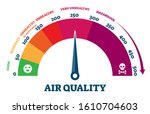 air quality vector illustration.... | Shutterstock .eps vector #1610704603