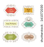 a set of four typographic... | Shutterstock .eps vector #161072030