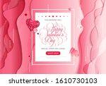 stock vector holiday valentine...   Shutterstock .eps vector #1610730103