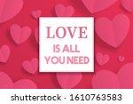 happy valentine s day...   Shutterstock .eps vector #1610763583