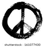 brush stroke peace sign. | Shutterstock .eps vector #161077430