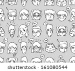 comical expressions background | Shutterstock .eps vector #161080544