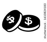 coins money dollar icon vector...