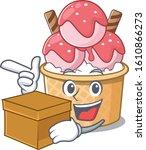 Cute Ice Cream Sundae Cartoon...