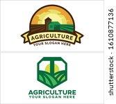 agriculture badge logo design... | Shutterstock .eps vector #1610877136