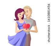 couple in love  great design...   Shutterstock .eps vector #1610881456