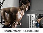 very power athletic guy   ... | Shutterstock . vector #161088680