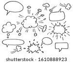 Hand Drawn Set Of Speech...