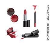 collection of various lipstick... | Shutterstock . vector #161089133