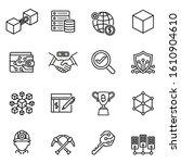 blockchain technology icons set ... | Shutterstock .eps vector #1610904610